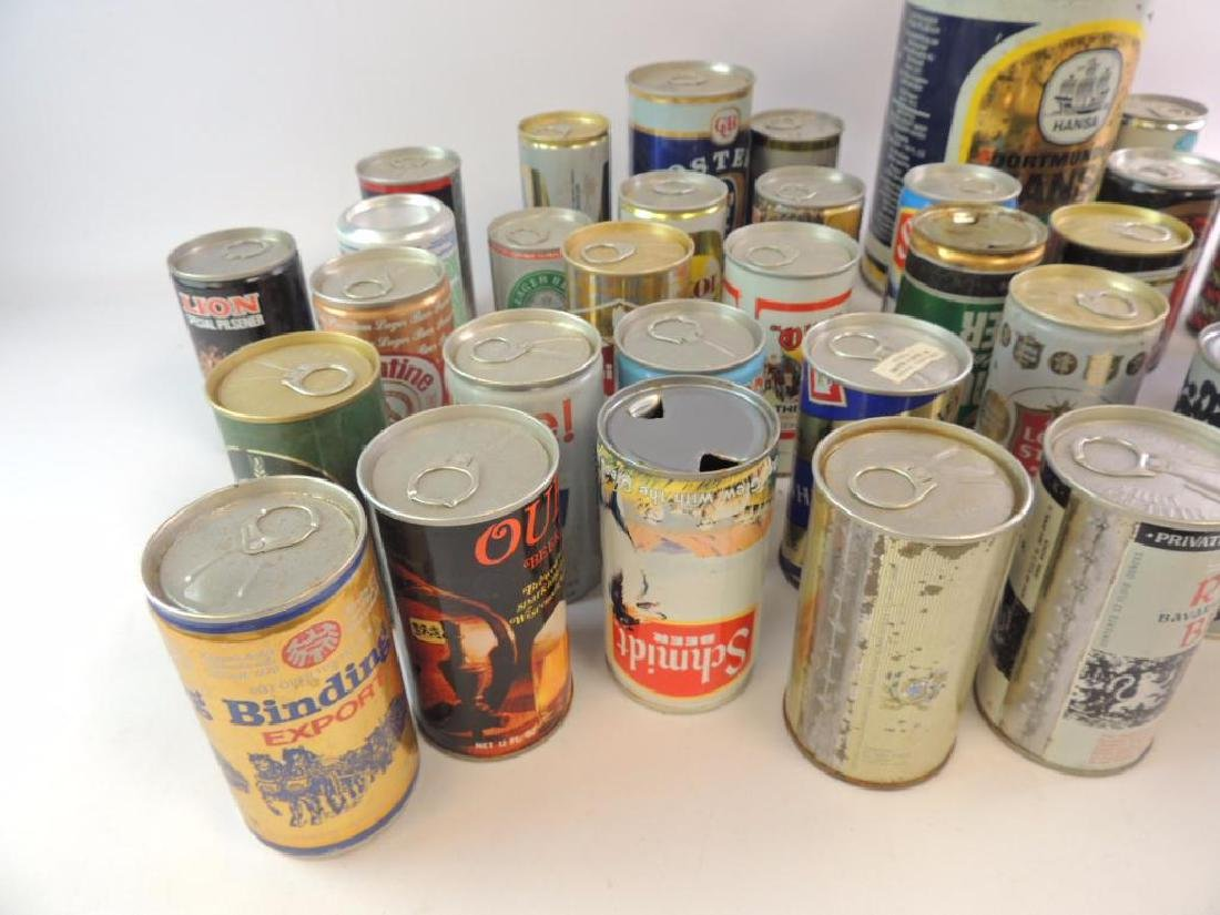 Group of 100 Plus Vintage Beer and Soda Cans - 2