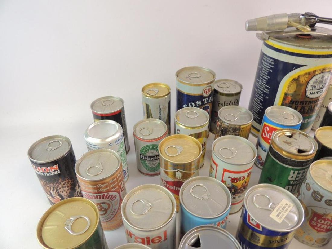 Group of 100 Plus Vintage Beer and Soda Cans - 3