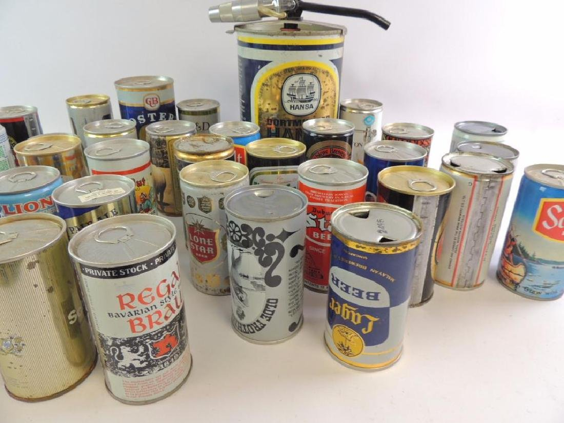 Group of 100 Plus Vintage Beer and Soda Cans - 4