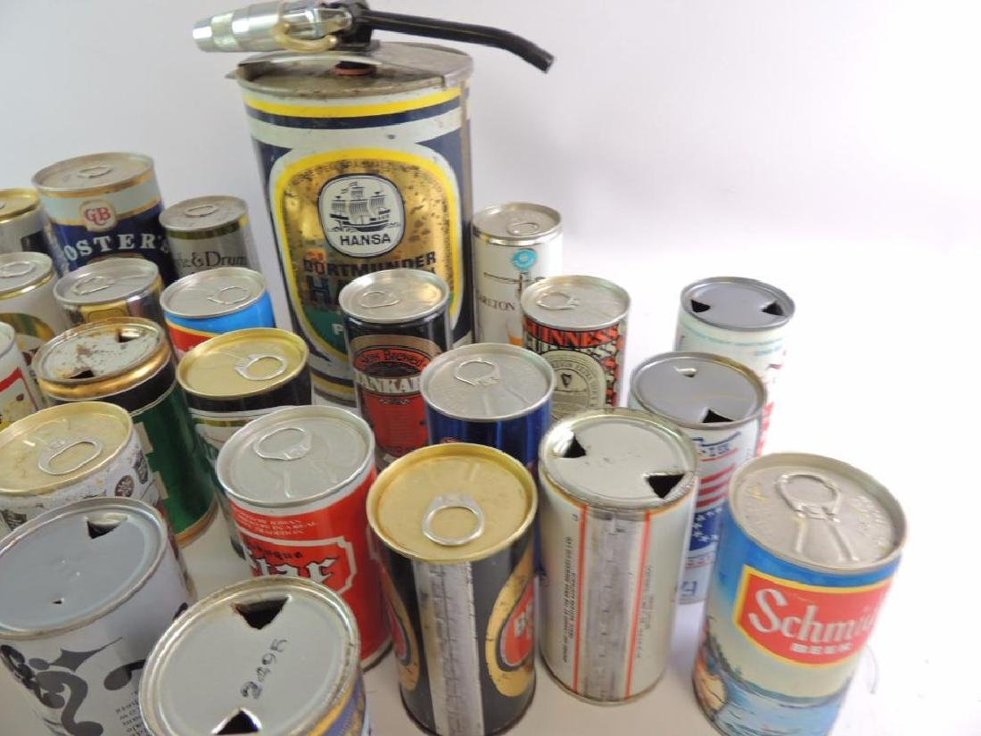 Group of 100 Plus Vintage Beer and Soda Cans - 5