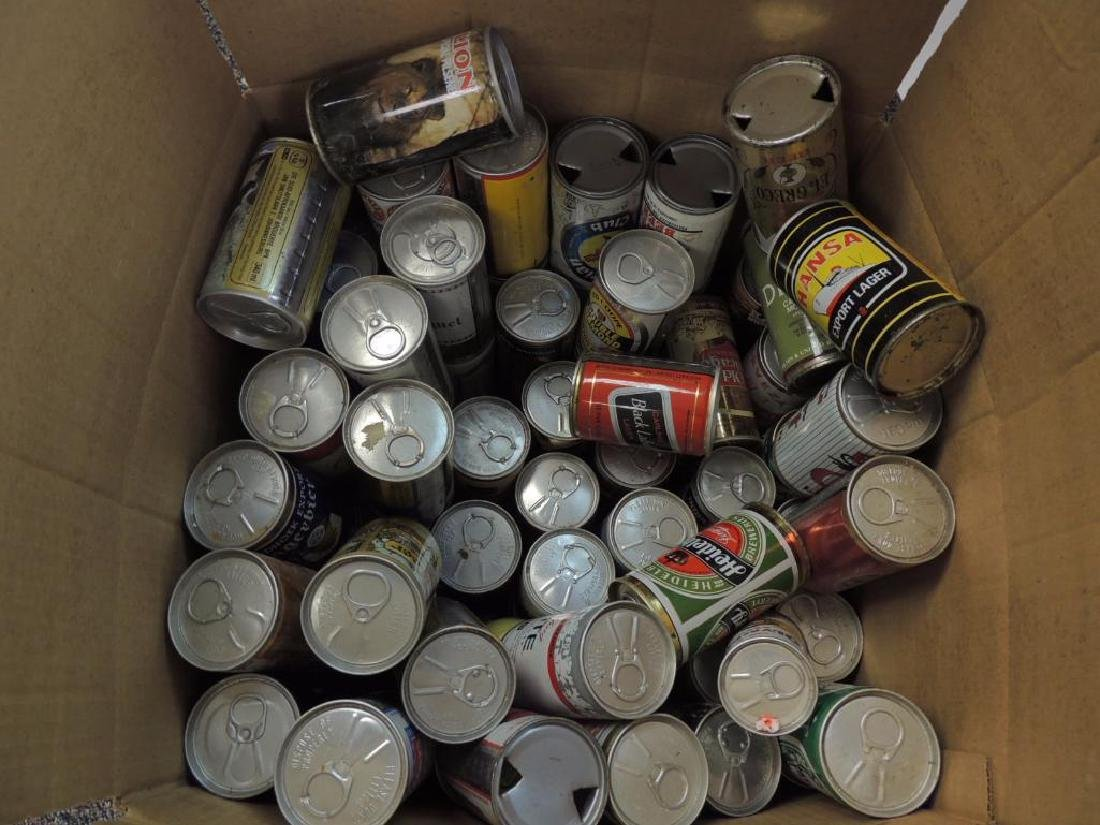 Group of 100 Plus Vintage Beer and Soda Cans - 6