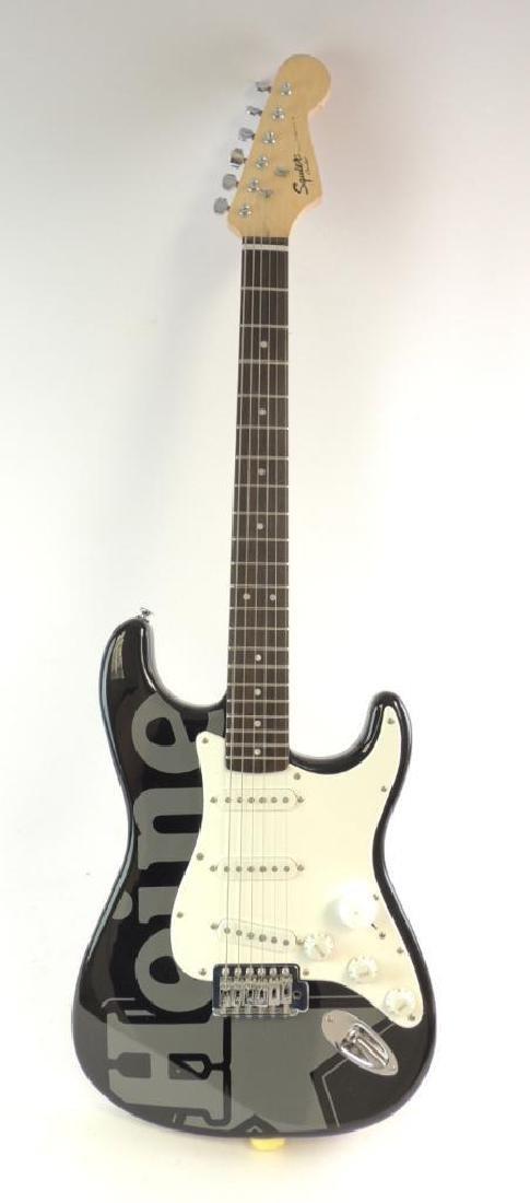 Heineken Fender Squire Bullet Strat Electric Guitar