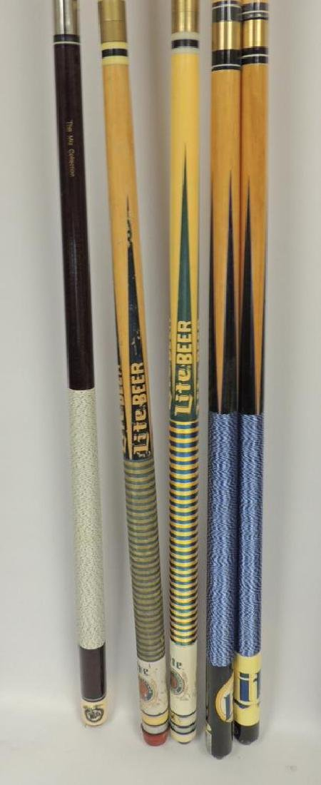 Group of 5 Miller Lite Advertising Pool Cue's - 2