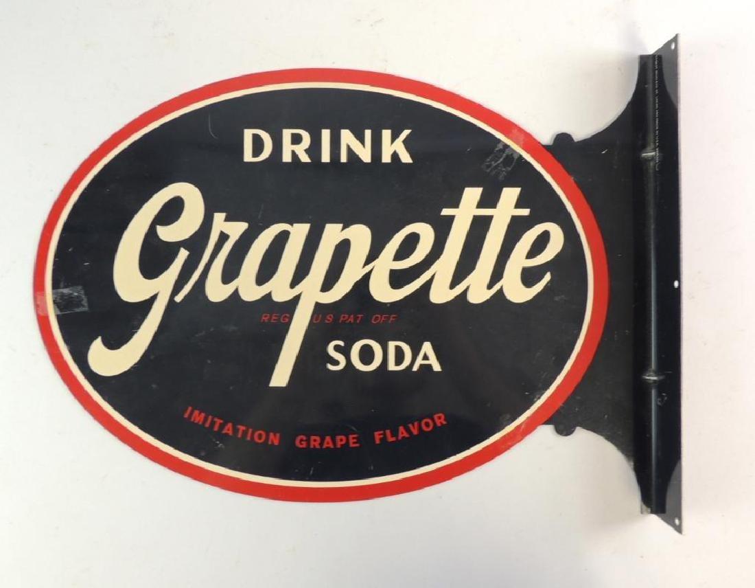 Grapette Soda Modern Advertising Flanged Sign