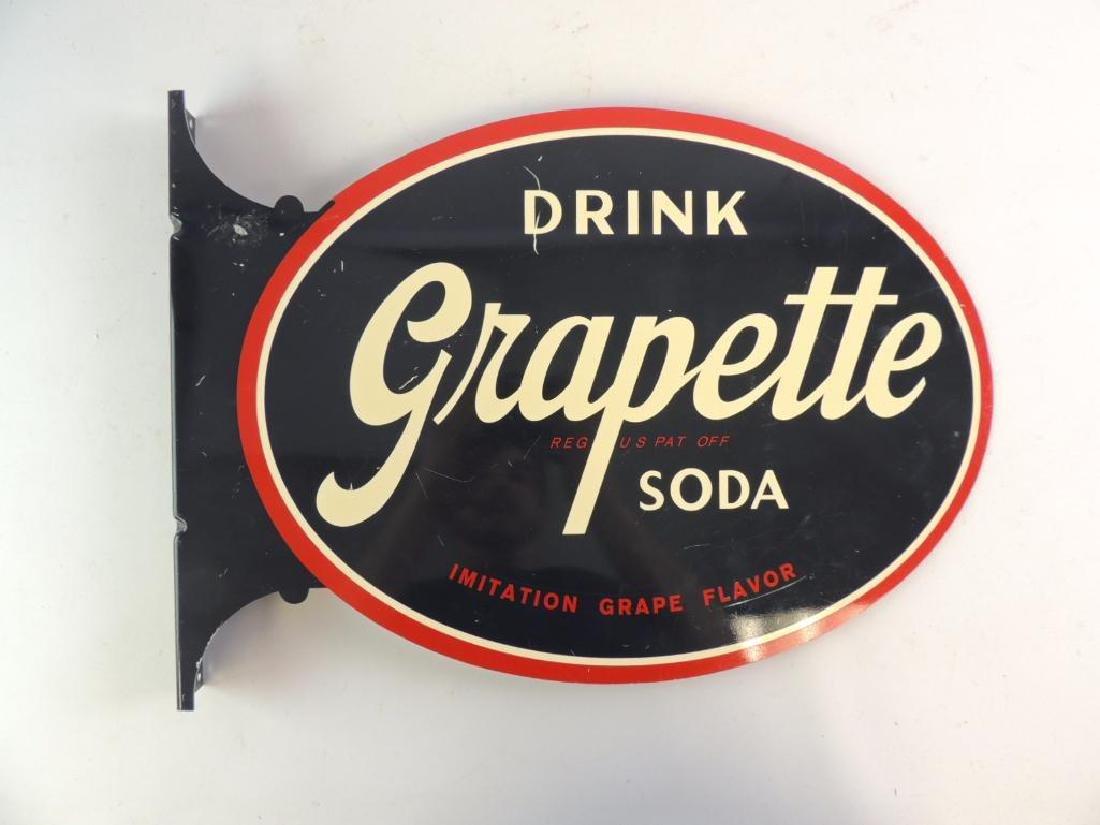 Grapette Soda Modern Advertising Flanged Sign - 2