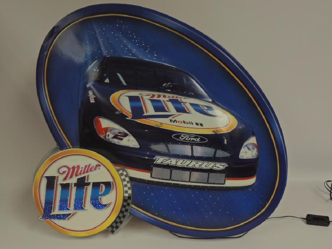 Miller Lite Nascar Advertising Fiber Optic Motion Beer - 2