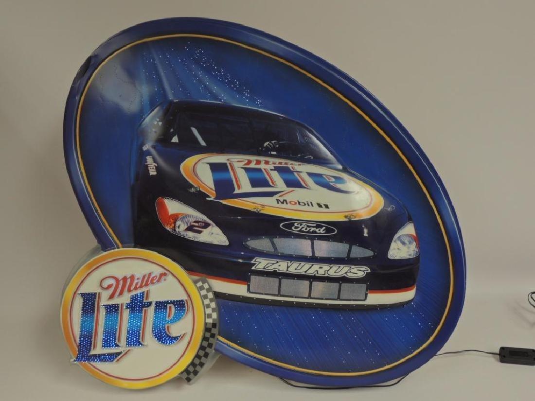 Miller Lite Nascar Advertising Fiber Optic Motion Beer - 3