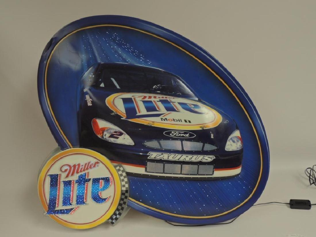 Miller Lite Nascar Advertising Fiber Optic Motion Beer - 4