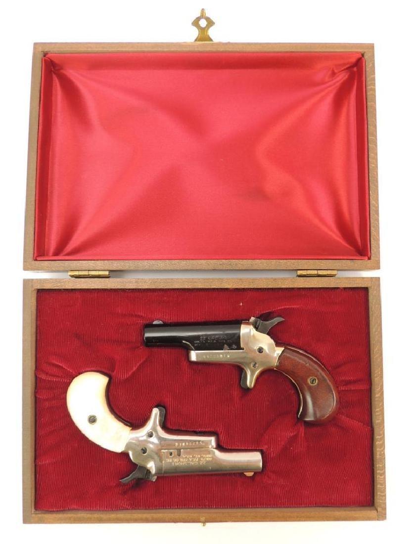 Pair of Colt .22 Cal. Short Derringer Pistols with Wood