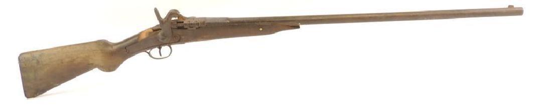 Antique Trap Door Style Single Shot 12 GA. Shotgun