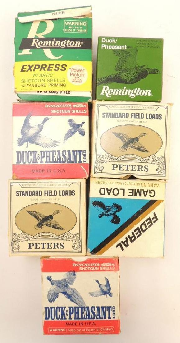 Group of 7 Partial Full Boxes of Shotgun Ammunition