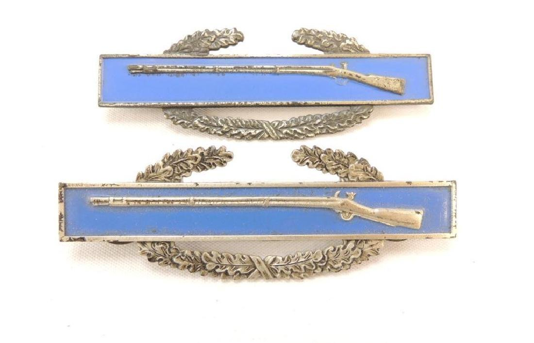 Group of 2 Sterling Silver U.S. Army Rifle Bars