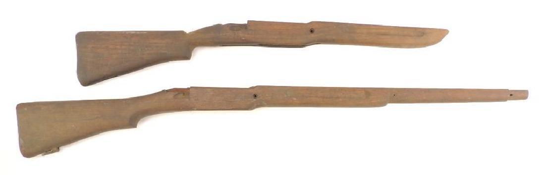 Group of 2 WW2 Era Rifle Stocks
