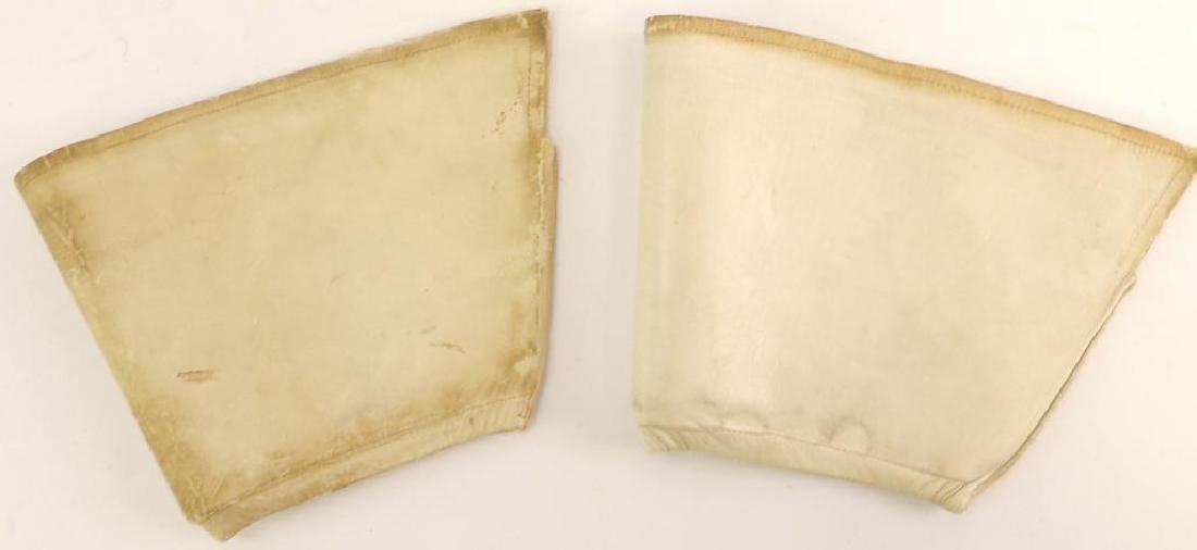 WW2 German White Leather Uniform Sleeve Cuff Covers