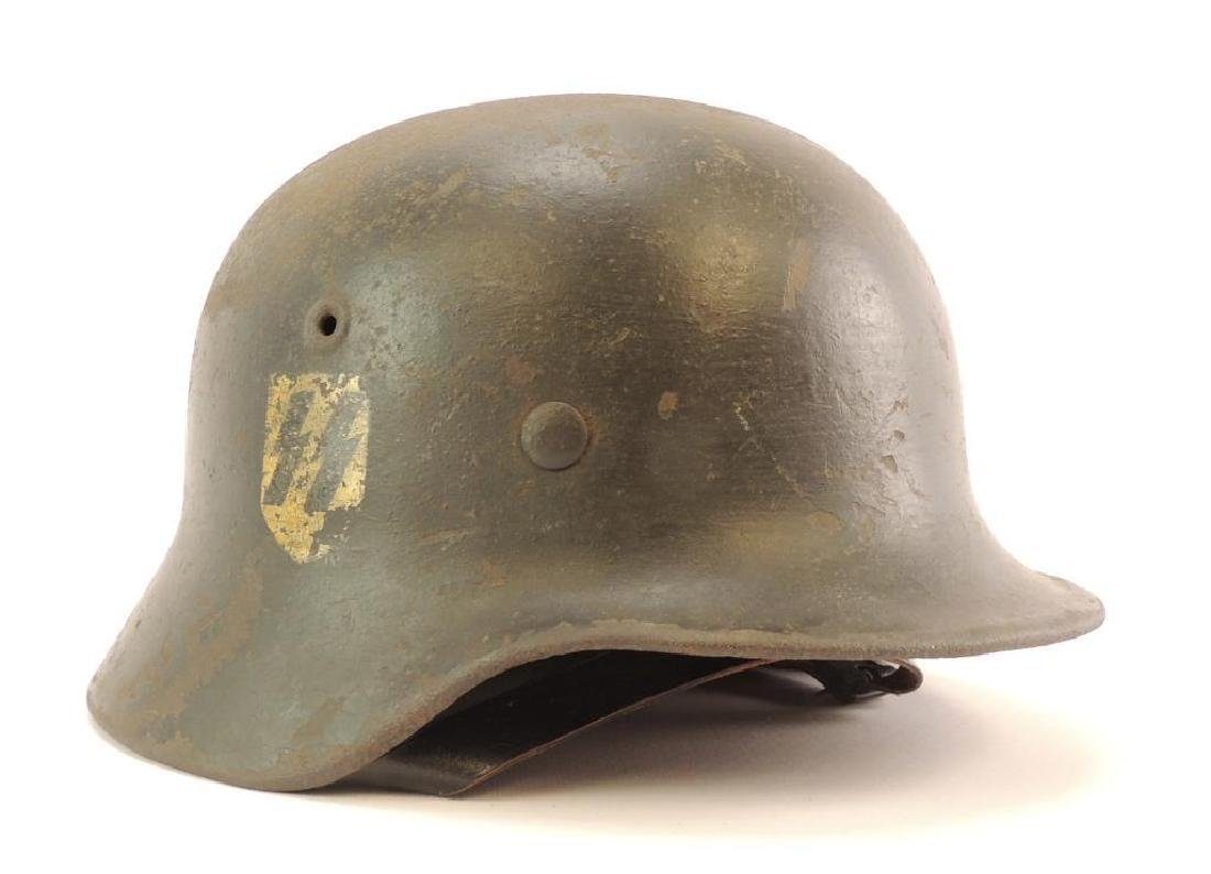 WW2 German SS Helmet with Double Sided Decals