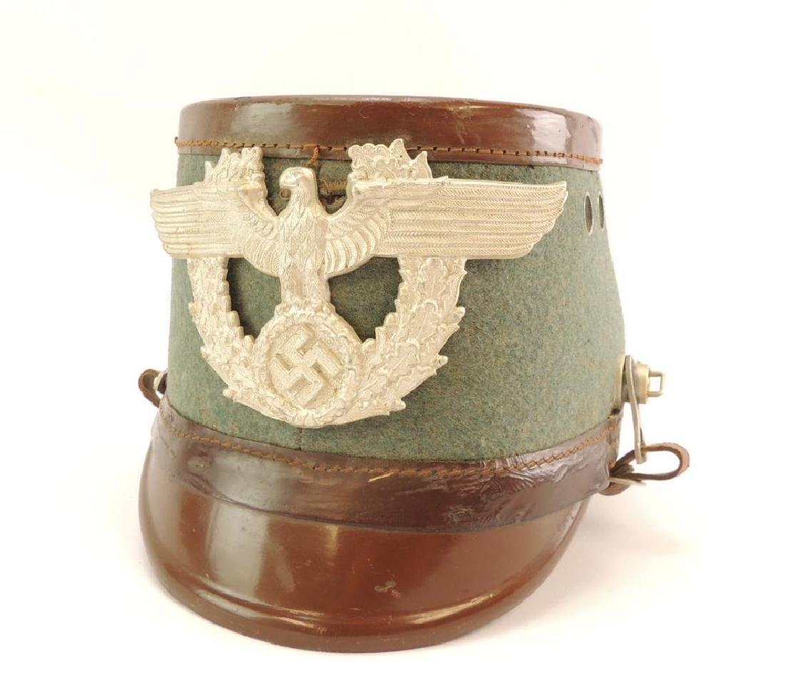WW2 German Police Shako with Leather Strap and Liner