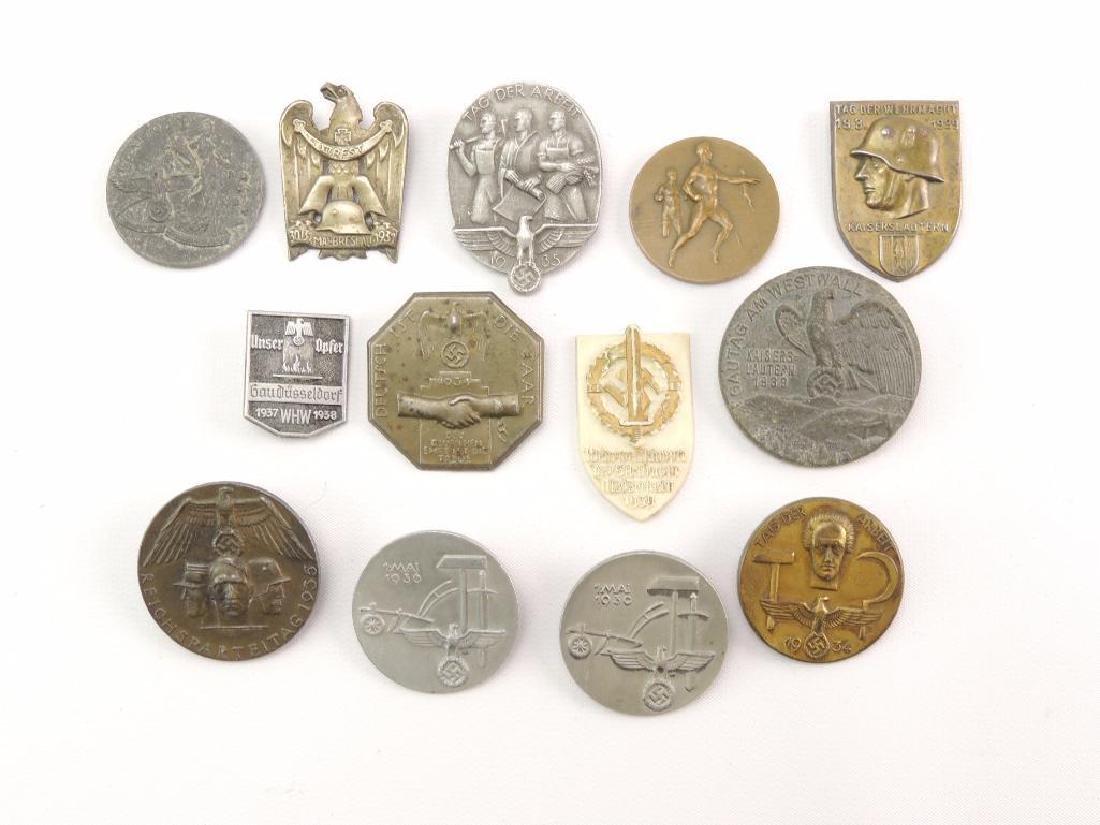 Group of 13 WW2 German Tinnies