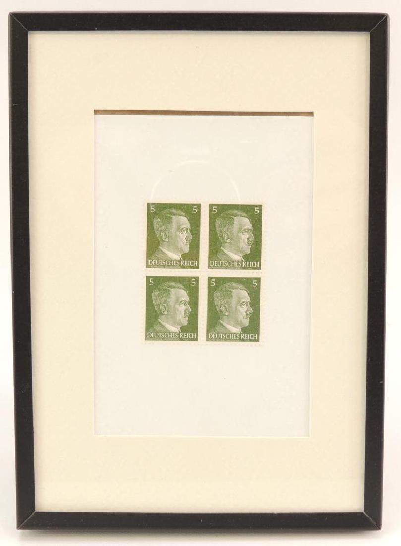 Group of 4 Framed WW2 German Postage Stamps