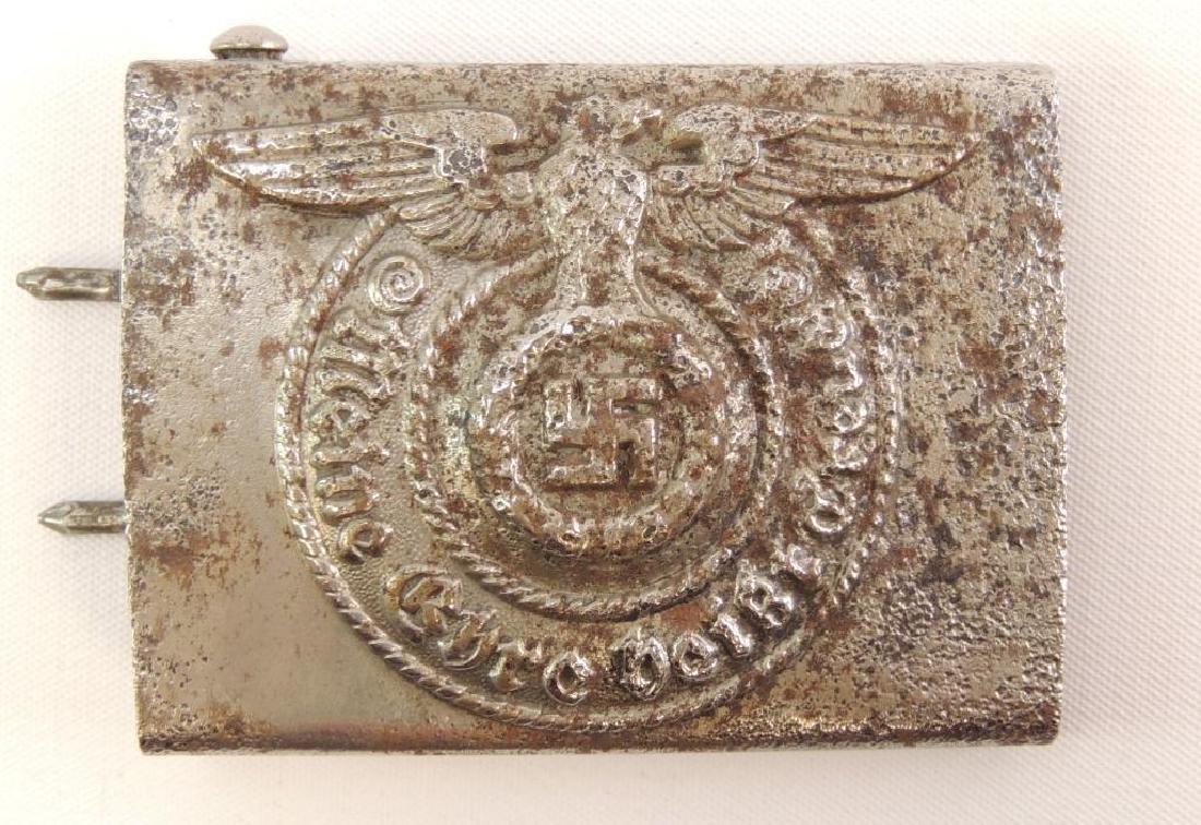 WW2 German SS Belt Buckle with RZM Marks