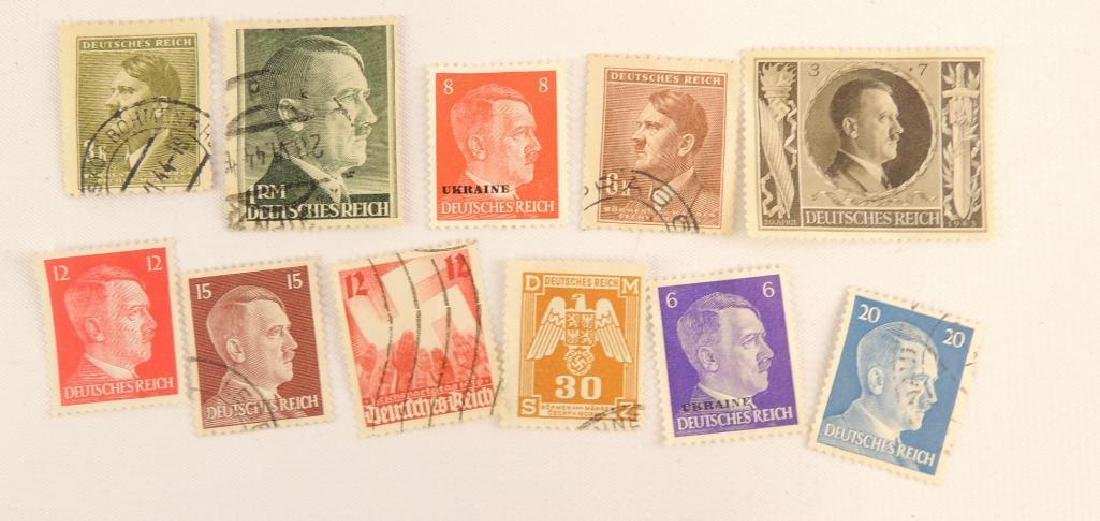 Group of 11 WW2 German Postage Stamps