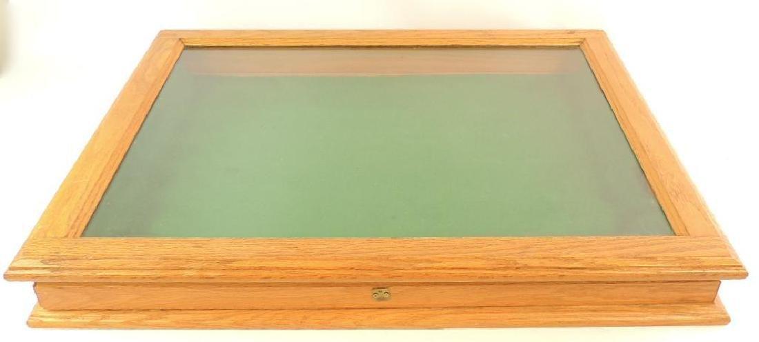 Large Oak and Glass Showcase