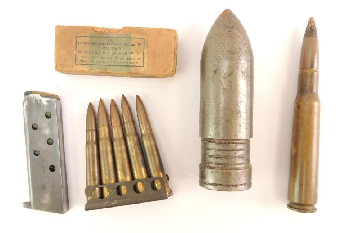 Group of WW2 Ammunition and Magazine