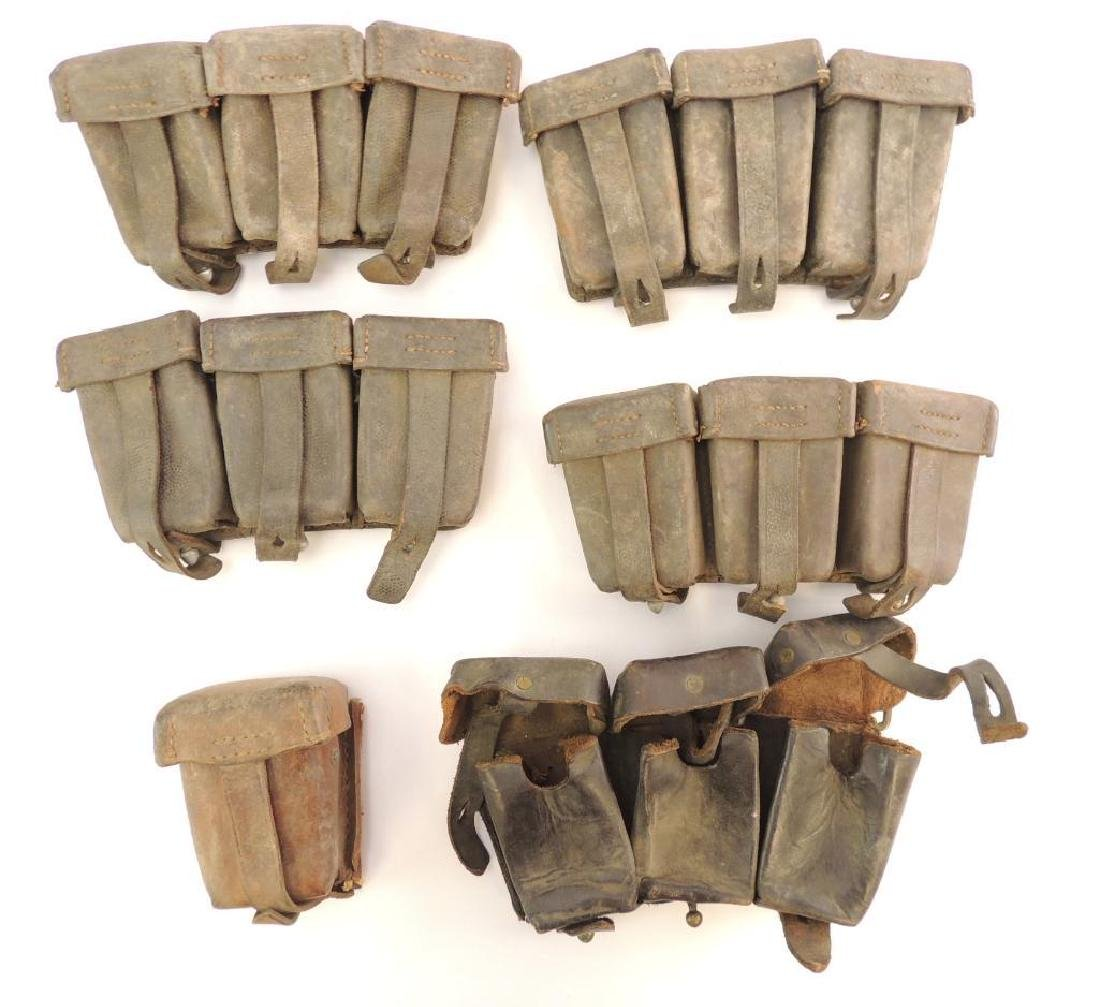 Group of 6 German WW2 Ammo Pouches