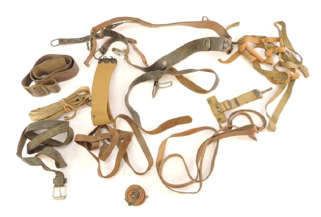 Group of WW1/2 Military Leather Belts and Straps