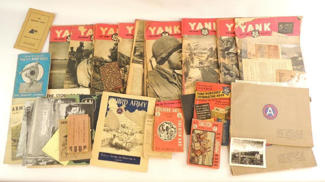 Group of WW2 U.S. Military Magazines, Booklets, and