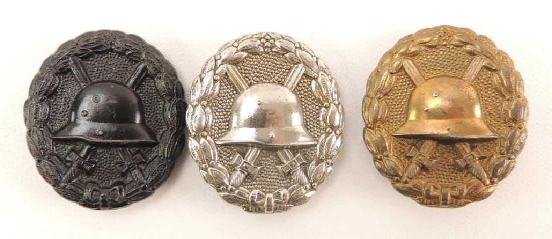 Group of 3 German Wound Badges