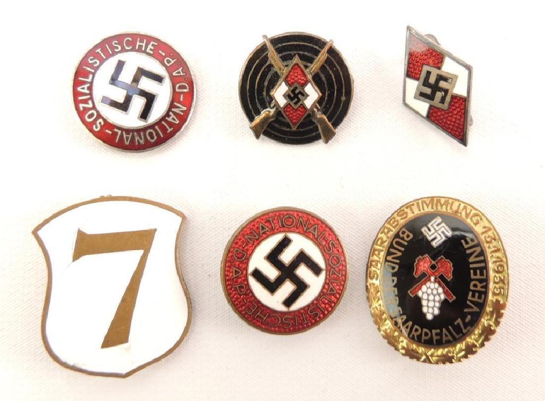 Group of 6 German Enameled Pins