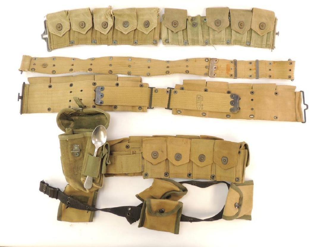 Group of U.S. Army Ammo Belts WW2 Mills 1919