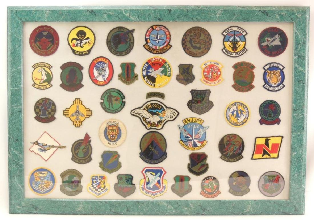 Framed Group of U.S. Air Military Patches