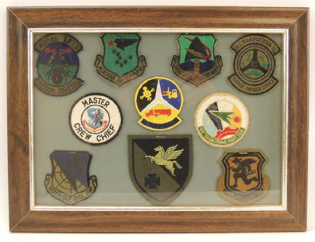 Framed Group of U.S. Military Patches