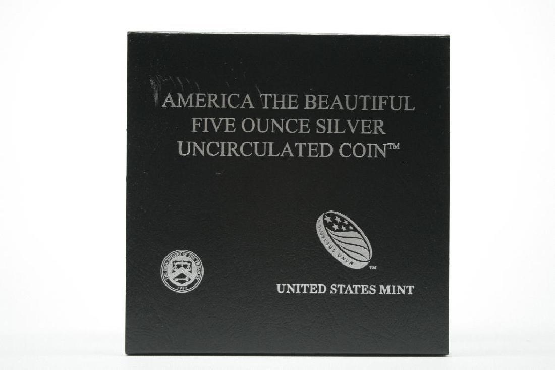 2010-P America the Beautiful 5 Oz. .999 Fine Silver