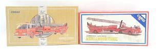 Group of 2 Vintage Corgi Fire Engines with Original