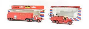 Group of 2 Solido Mack and GMC DieCast Pompier Fire