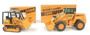 Group of 2 NZG Modelle Case DieCast Toy Loaders with