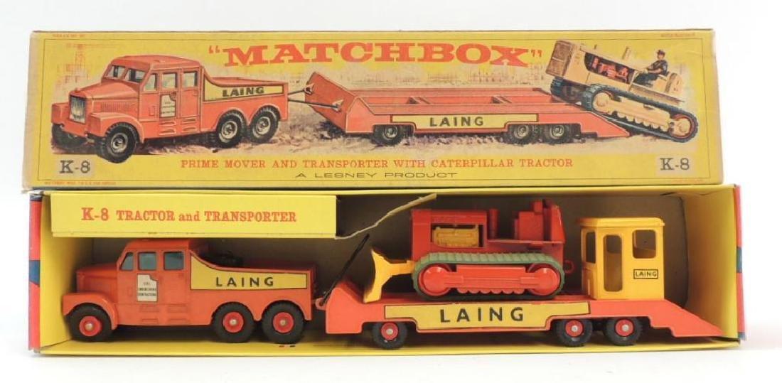 Vintage Lesney Matchbox Laing K-8 Tractor and