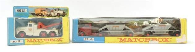 Group of 2 Vintage Lesney Matchbox DieCast Toy Trucks