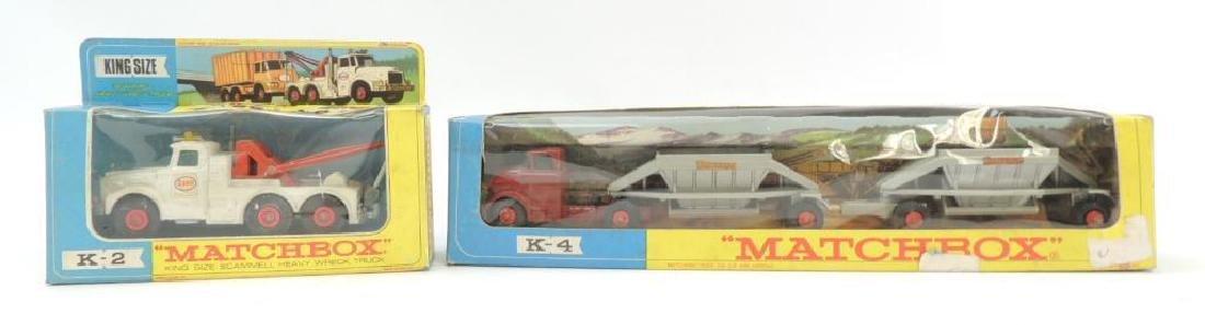 Group of 2 Vintage Lesney Matchbox Die-Cast Toy Trucks