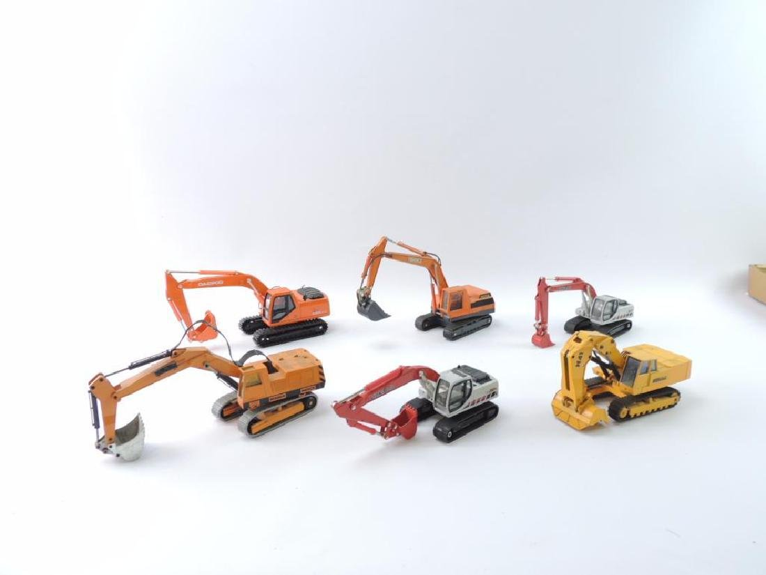 Group of 6 Die-Cast Toy Excavators