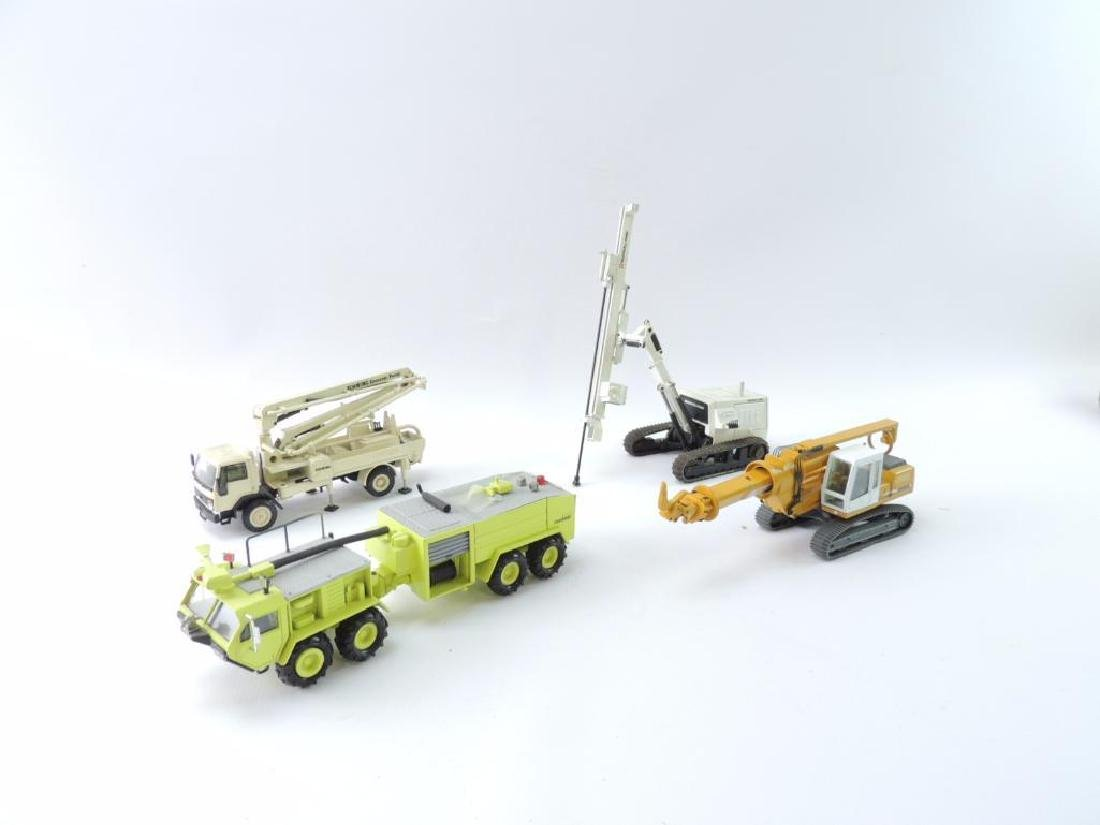 Group of 4 Die-Cast Specialty Construction Vehicles