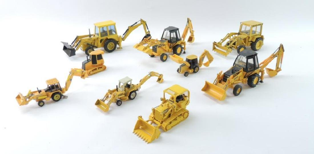 Group of 9 Die-Cast and Plastic Toy Tractors