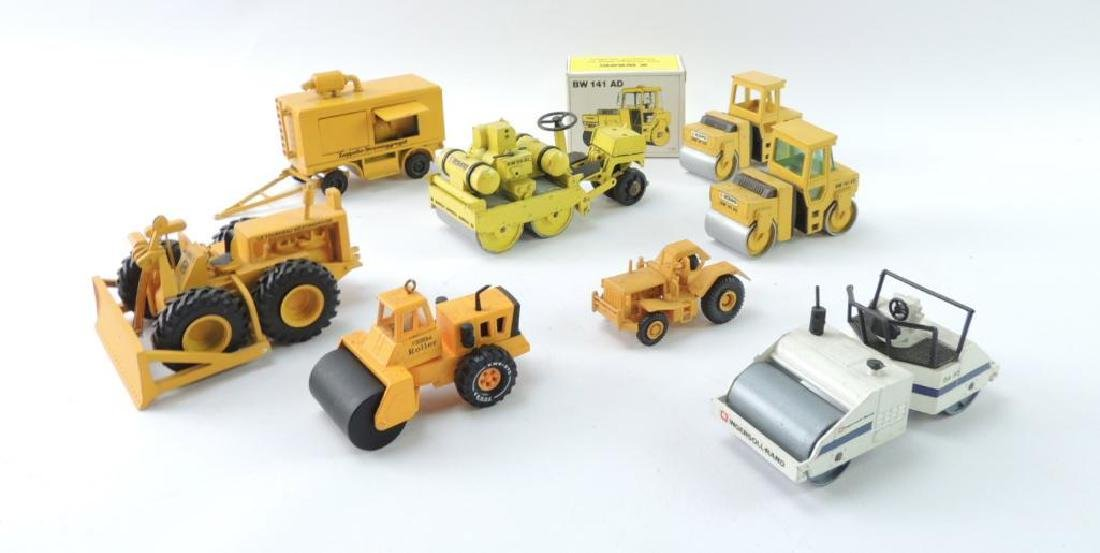 Group of 8 Die-Cast Toy Road Construction Vehicles