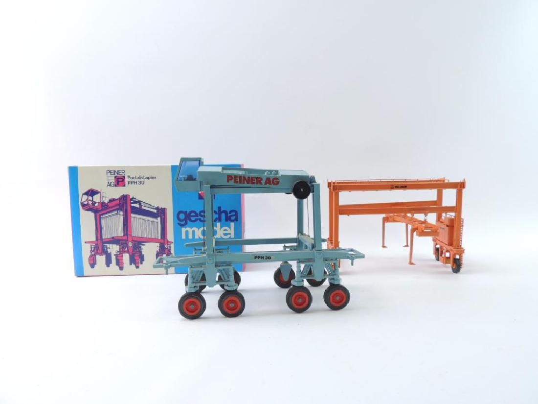 Group of 2 Die-Cast and Plastic Container Trucks