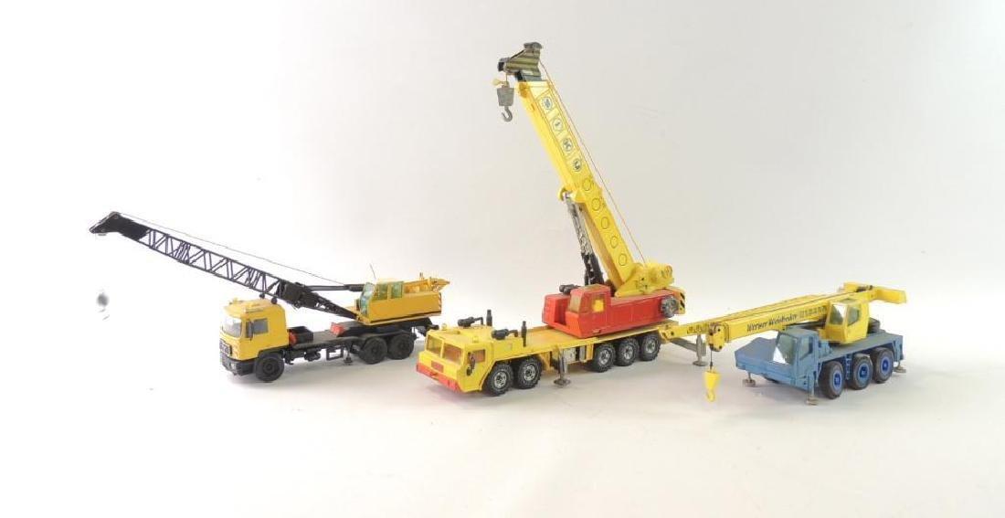Group of 3 Die-Cast Cranes