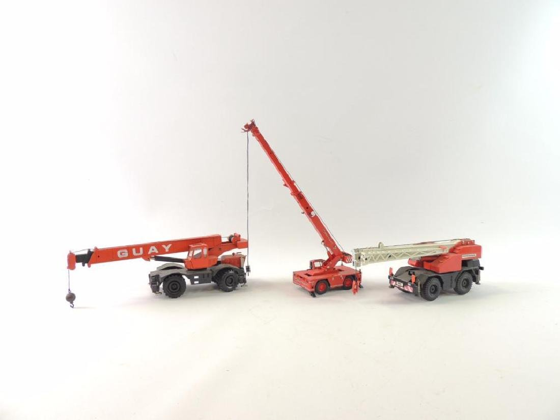 Group of 6 Die-Cast Toy Cranes