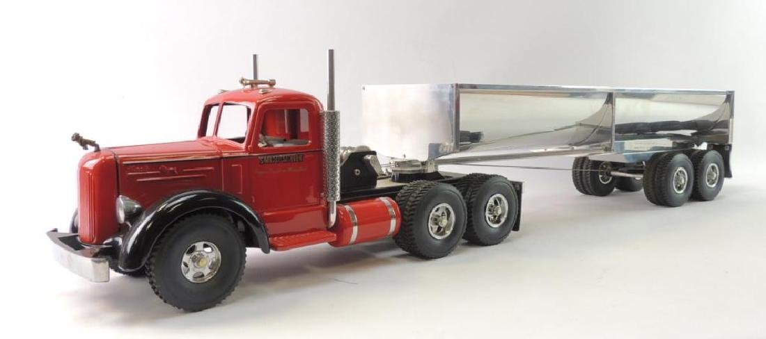 Smith Miller Smitty Toys Pressed Steel Mack Semi Truck