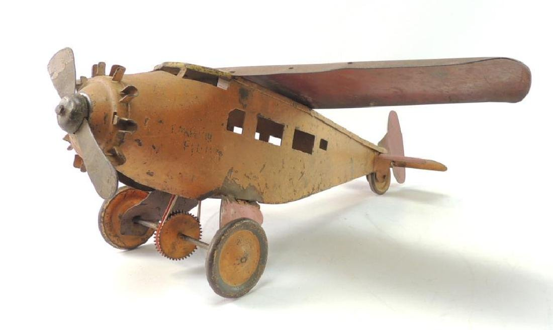 Pre War Metalcraft Pressed Steel Mechanical Aero plane